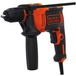 Black and Decker  1/2 in. Keyless  Corded Hammer Drill  6.5 amps 2800 rpm