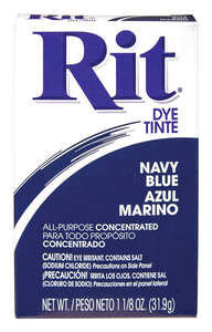 Rit  1-1/8 oz. Navy Blue  For Fabrics as well as wood, Wicker, Paper and Plastic Powder Dye