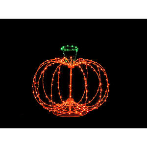 Santa's Best  Pumpkin  Lighted Halloween Decoration  15.5 in. H x 18 in. W 1 pk