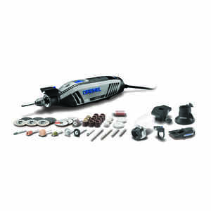 Dremel  4300  1/8 in. Corded  Rotary Tool  Kit 1.8 amps 120 volt 35000 rpm 46 pc.