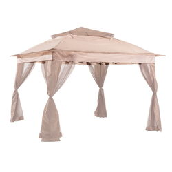 Living Accents  Polyester  Pop-Up Pogoda  Gazebo  111.02 in. H x 10 ft. W x 10 ft. L