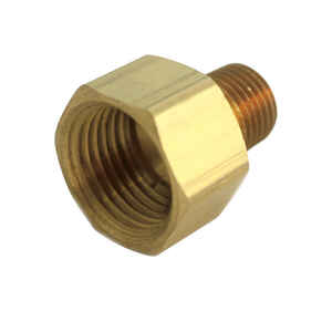 JMF  1/2 in. Dia. x 1/2 in. Dia. FPT To MPT  Yellow Brass  Reducing Coupling