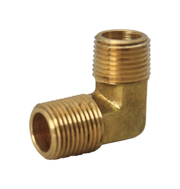 JMF  1/8 in. Dia. x 1/8 in. Dia. FPT To MPT To Compression  Yellow Brass  Elbow
