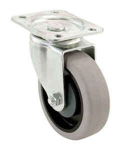 Shepherd  5 in. Dia. Swivel Thermoplastic  Caster  300 lb. 1 pk