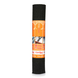 Con-Tact Brand  Grip  5 ft. L x 12 in. W Black  Non-Adhesive  Shelf Liner
