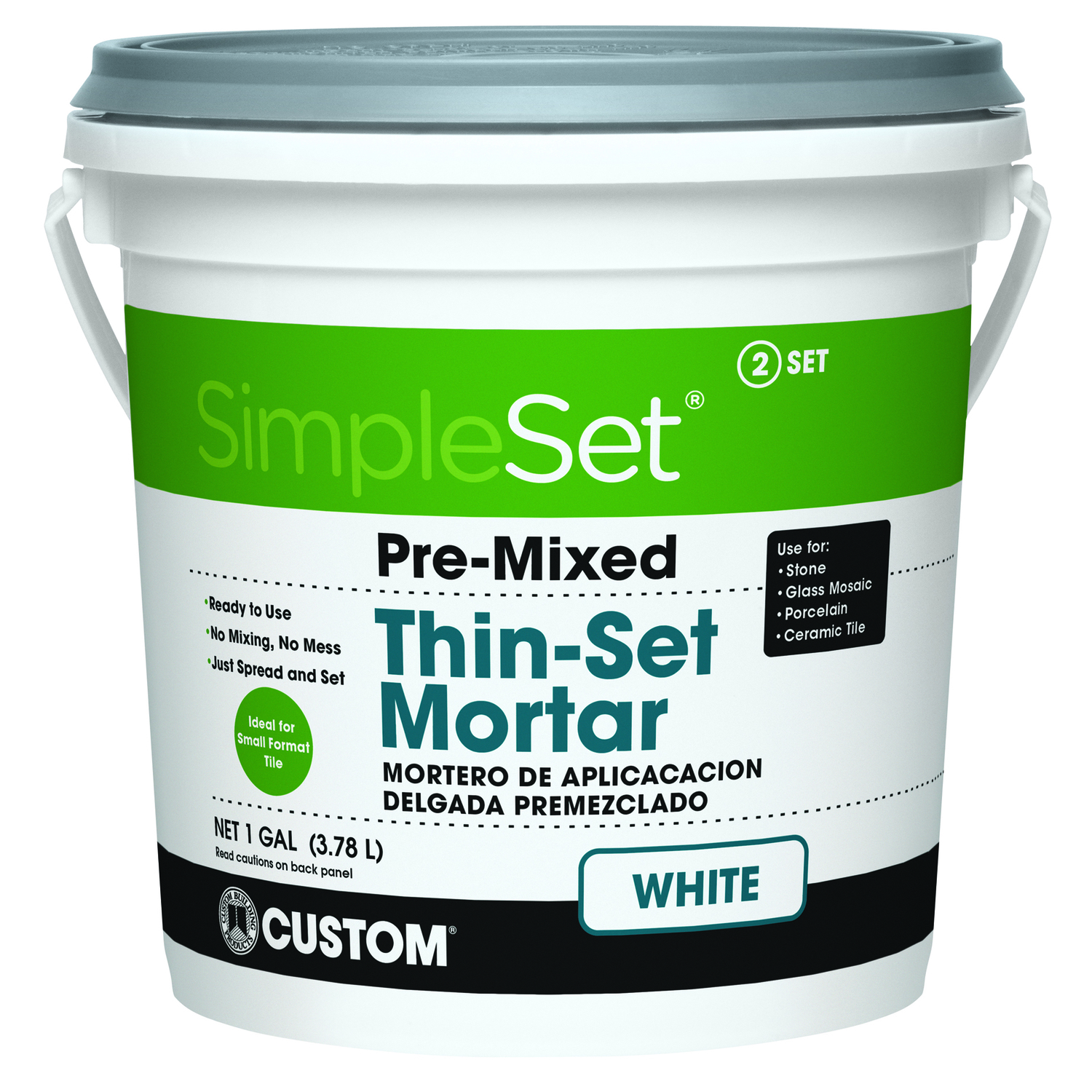 Custom Building Products  SimpleSet  White  Thin-Set Mortar  128 oz. 1 gal.