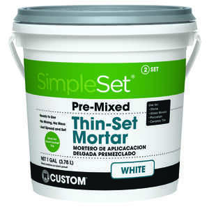 Custom Building Products  SimpleSet  White  Thin-Set Mortar  1 gal. 128 oz.