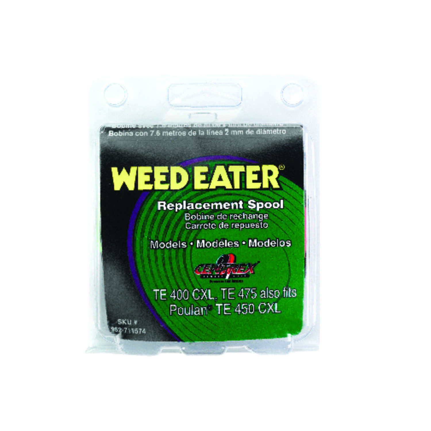 Weed Eater  Centrex  0.080 in. Dia. x 25  L Replacement Line Trimmer Spool