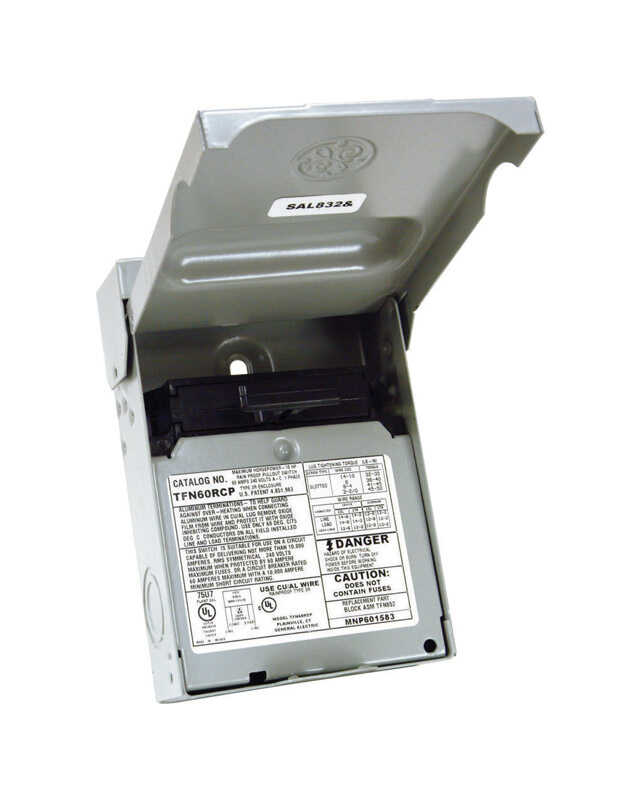GE  60 amps Non-Fusible  2-Pole  AC Disconnect