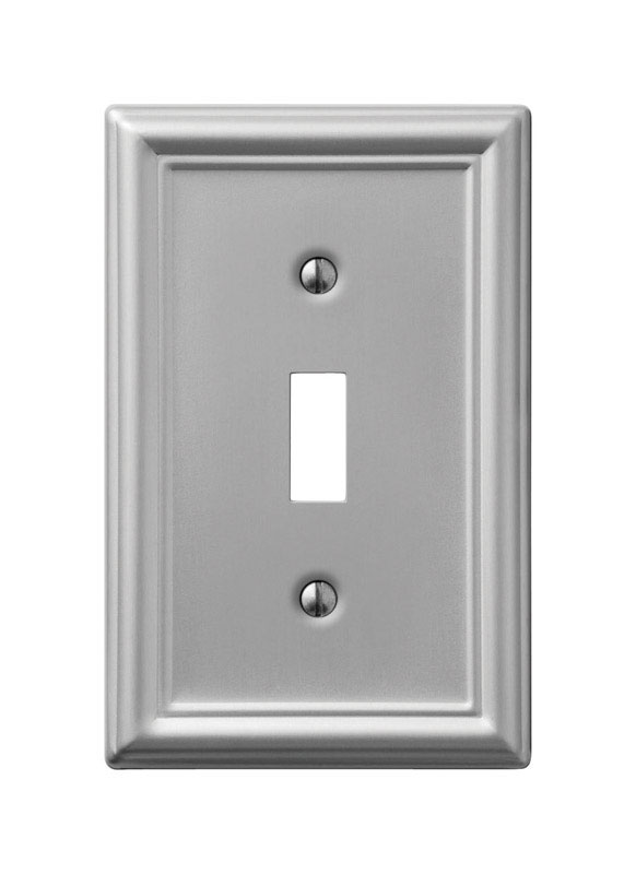 Amerelle  Chelsea  1 gang Stamped Steel  Wall Plate  Toggle  1 pk
