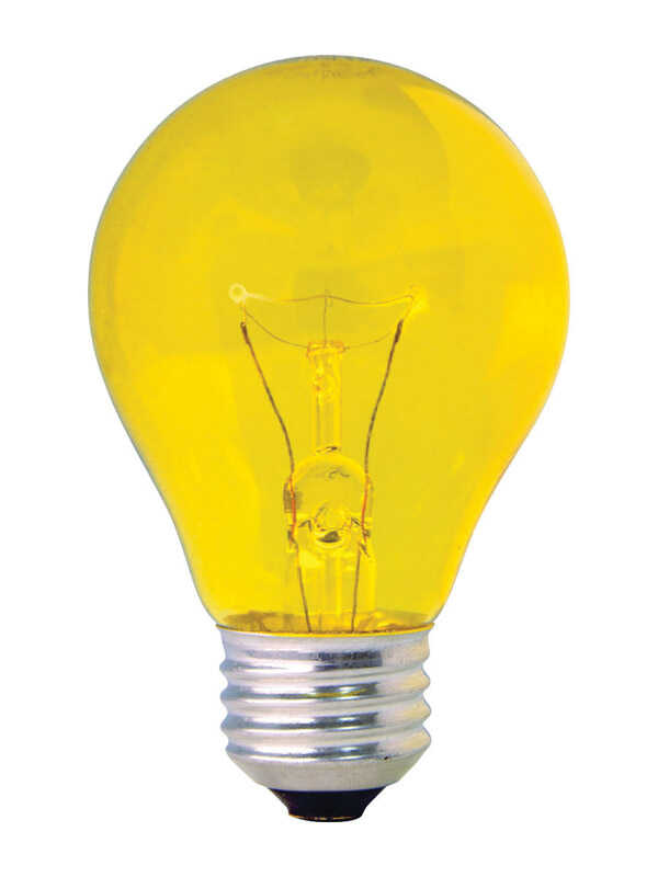 GE Lighting  party light  25 watts A19  Incandescent Bulb  14 lumens Yellow  1 pk A-Line