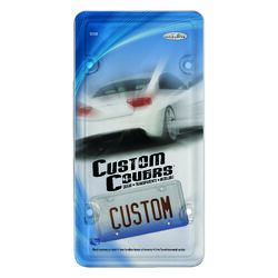 Custom Accessories Clear Acrylic License Plate Protector