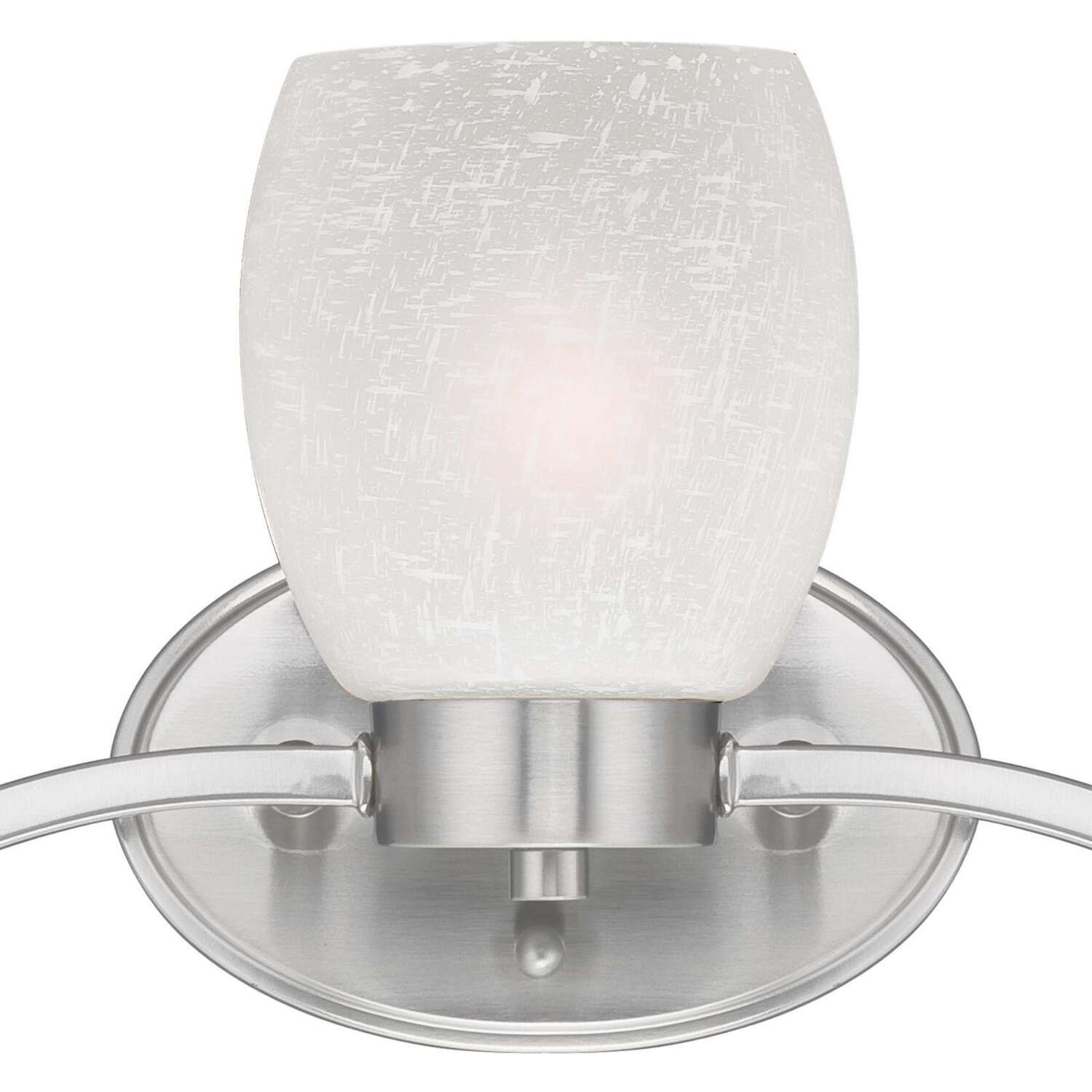 Westinghouse  Brushed Nickel  White  3  Wall Sconce