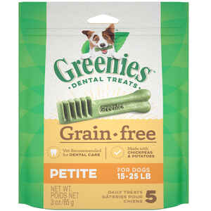 Greenies  Petite  Chickpea & Potato  Dog  Grain Free Dental Stick  1 pk 3 oz.