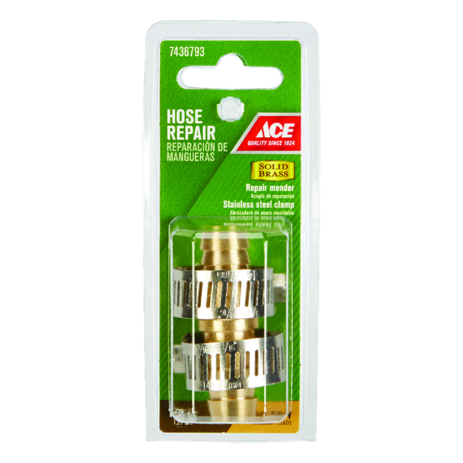 Ace  1/2 in. Brass  Male  Hose Repair