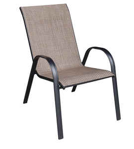 Living Accents  Sling  1  Black  Steel  Chair