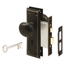 Prime-Line  Security  Oil Rubbed Bronze  Mortise Lockset  Grade 1  1-3/4 in.