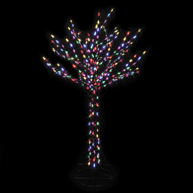 Celebrations  Bare Branch LED  Christmas Tree  Multicolored  Metal  1 each