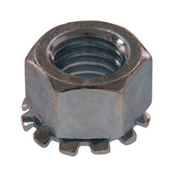 Hillman  1/4 in. Zinc-Plated  Steel  SAE  Keps Lock Nut  100 pk