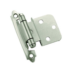 Amerock  2 in. W x 2-3/4 in. L Satin Nickel  Steel  Self-Closing Hinge  2 pk