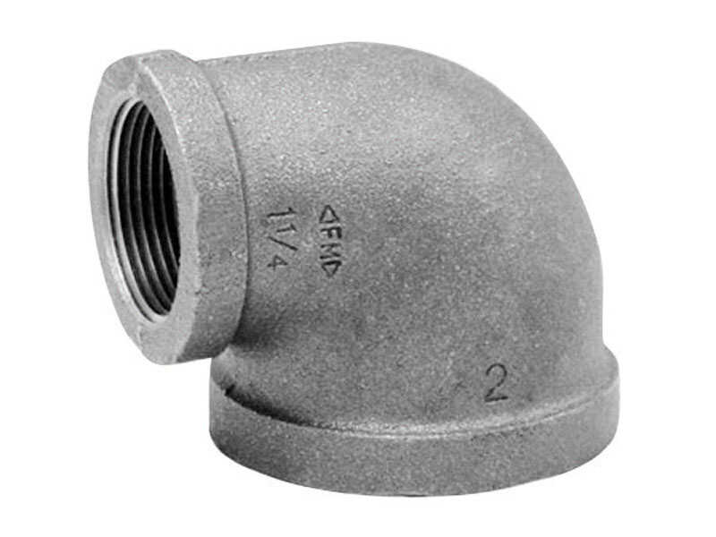 Anvil  3/8 in. FPT   x 1/4 in. Dia. FPT  Black  Malleable Iron  Elbow