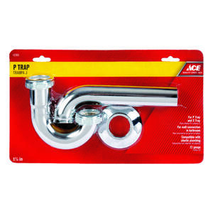 Ace  1-1/4 in. Dia. Brass  P-Trap