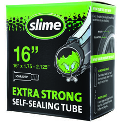 Slime Self Sealing Rubber Bicycle Inner Tube 16 in. 1 pk