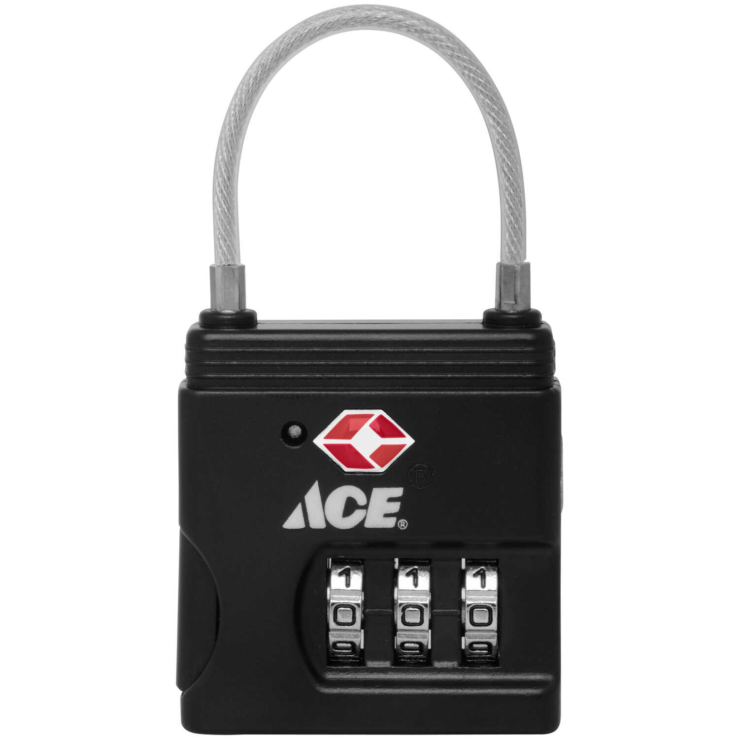 Ace  1-9/16 in. H x 1-7/16 in. W x 1/2 in. L Die-Cast Zinc  3-Dial Combination  Luggage Lock  1 pk