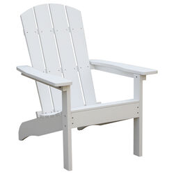 Living Accents  1 pc. White  Resin Frame Adirondack  Chair