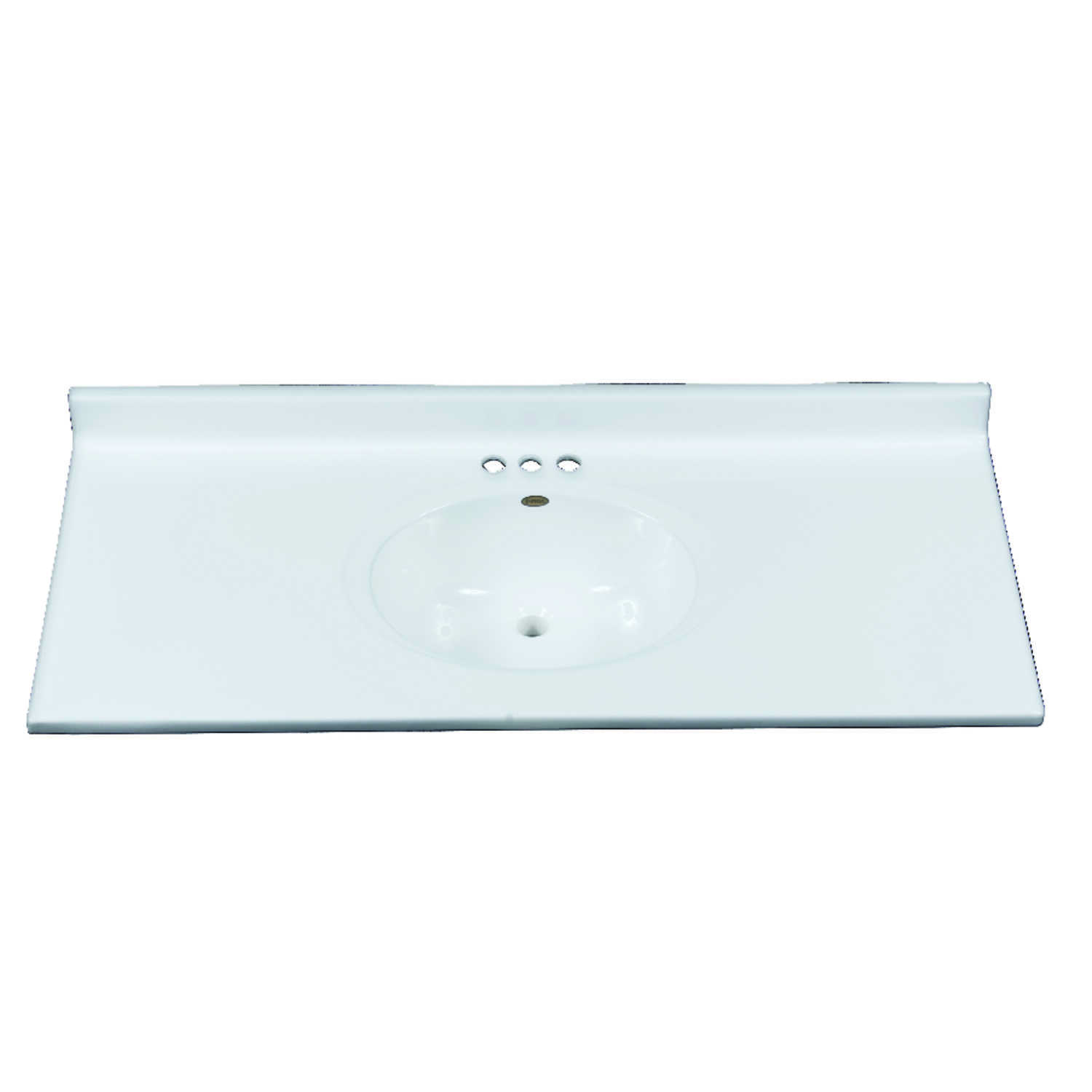 Imperial Marble  Single  Gloss  Solid White  Vanity Top  49 in. W x 22 in. D