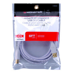 Monster  Just Hook It Up  6 ft. L USB Cable