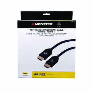 Monster Cable  Just Hook It Up  49.5 ft. L High Speed Cable with Ethernet  HDMI