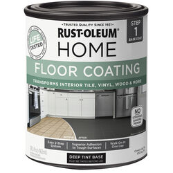Rust-Oleum  Home  Flat  Dark Tint Base  Water-Based  Floor Paint  1 qt.