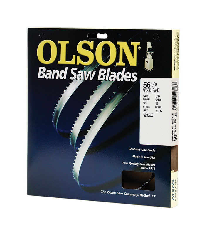Olson  56.1  L x 0.1 in. W x 0.02 in.  Carbon Steel  Band Saw Blade  14 TPI Hook  1 pk