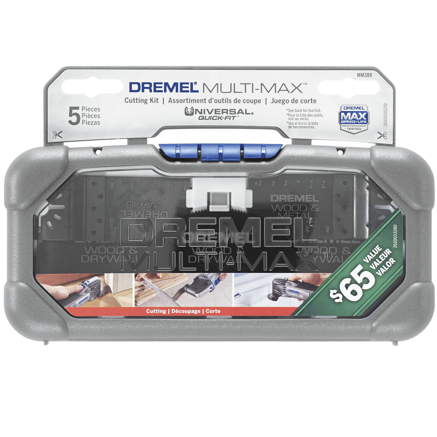 Dremel  3   x 3 in. L Cutting Kit  5 pk 5 pk Steel