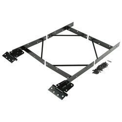 National Hardware  3.74 in. L Black  Steel  Anti-Sag Gate Kit  1 pk