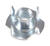 Hillman 1/4 in. Zinc-Plated Steel SAE Tee Nut 100 pk