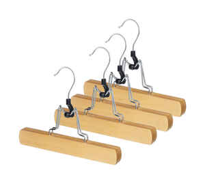 Whitmor  6-1/2 in. H x 1 in. W x 9 in. L Wood  Brown  Slack Hanger  4 pk