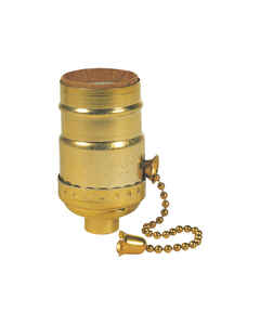 Westinghouse  Brass  Medium Base  Pull Chain Socket  1 pk