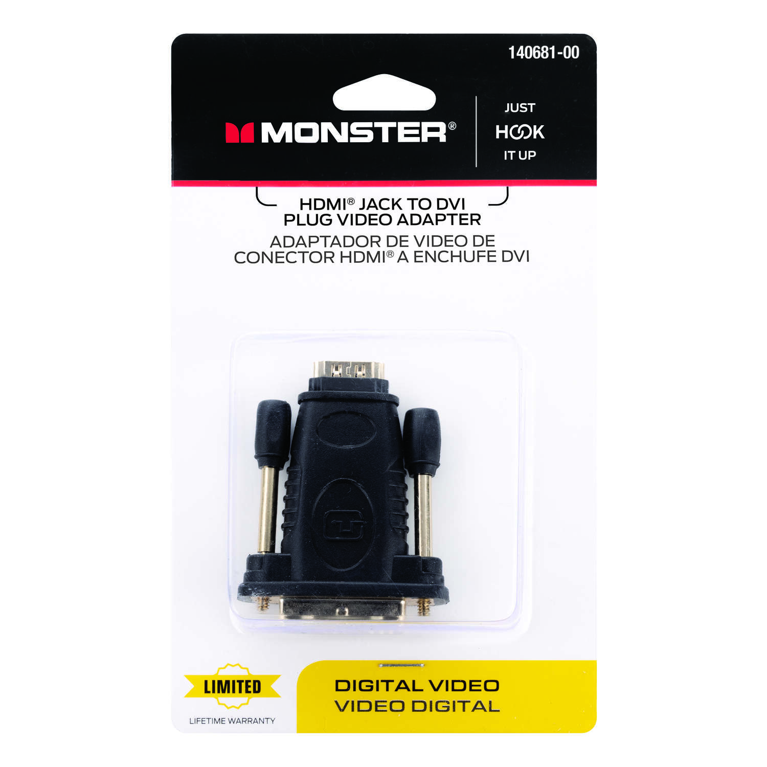 Monster Cable Just Hook It Up HDMI Adapter 1 pk