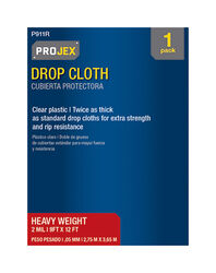 Frost King  9 ft. W x 12 ft. L x 2 mil  Plastic  Drop Cloth  1 pk