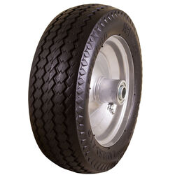 Marathon  Universal Fit  4 in. Dia. x 10.3 in. Dia. 300 lb. capacity Offset  Hand Truck Tire  Rubber