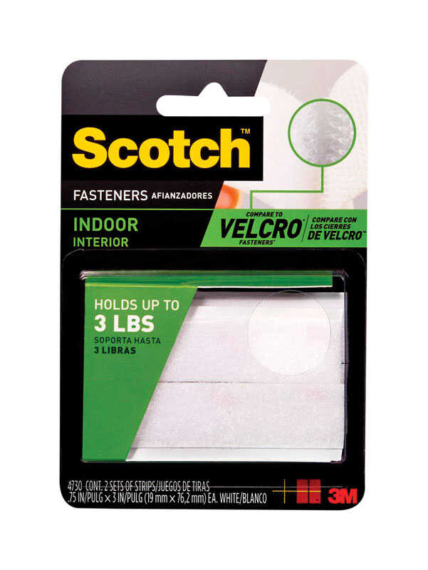 3M  Scotch  Medium  3in in. L 2 pk Hook and Loop Fastener  Foam