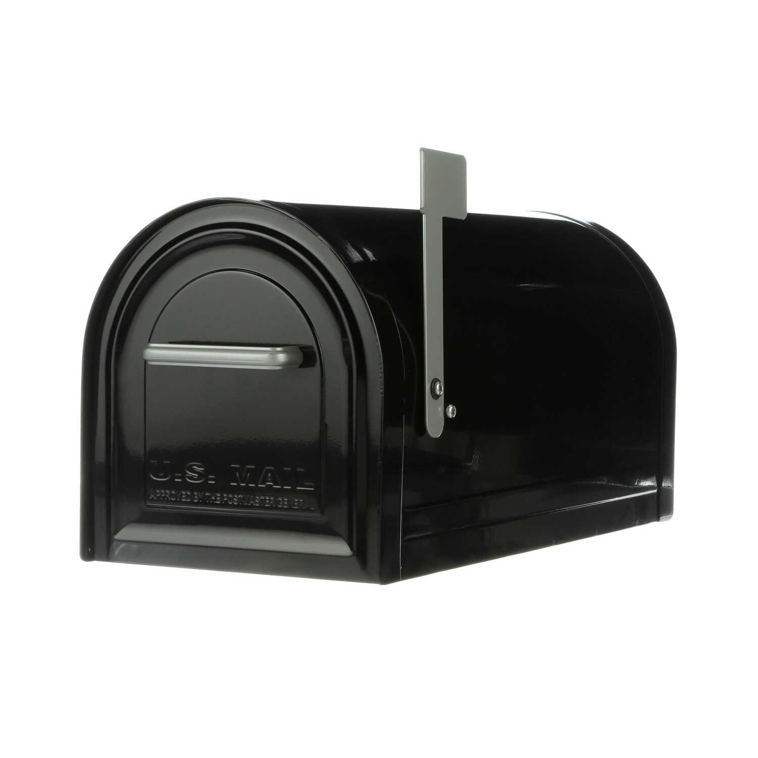 Gibraltar  Reliant  Traditional  Galvanized Steel  Curbside  Black  Lockable Mailbox  10.84 in. H x