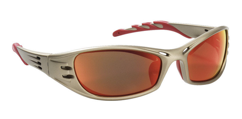 3M  Red  Titanium  Safety Glasses  1 pc.