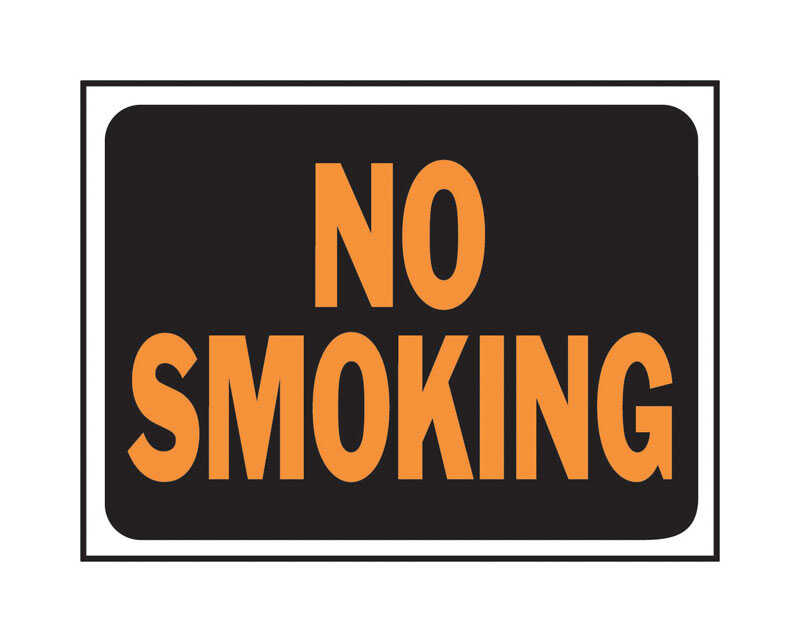 Hy-Ko  English  No Smoking  Sign  Plastic  9 in. H x 12 in. W