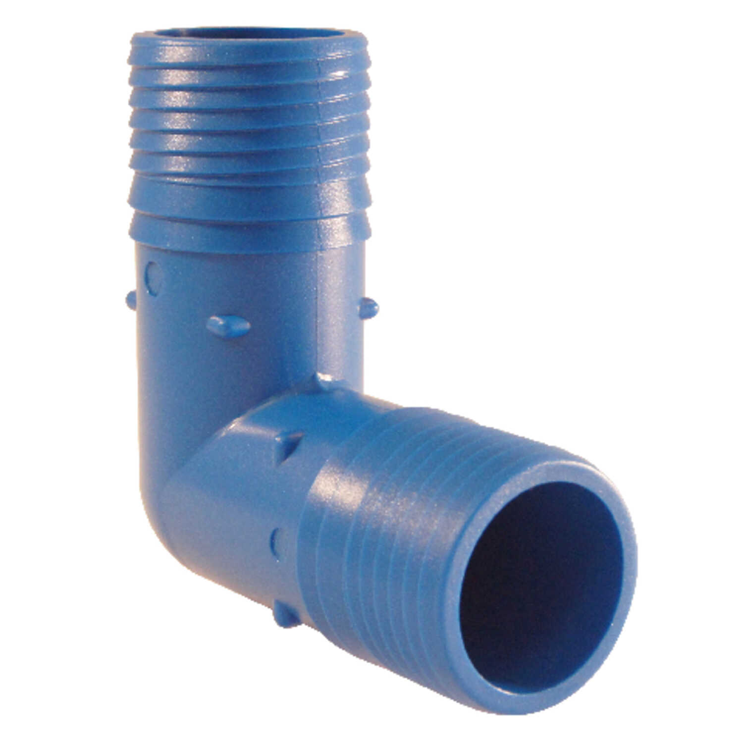 Blue Twisters  1-1/4 in. Insert   x 1-1/4 in. Dia. Insert  Polypropylene  Elbow