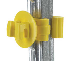 Dare Products  Electric-Powered  T-Post Insulator  Yellow