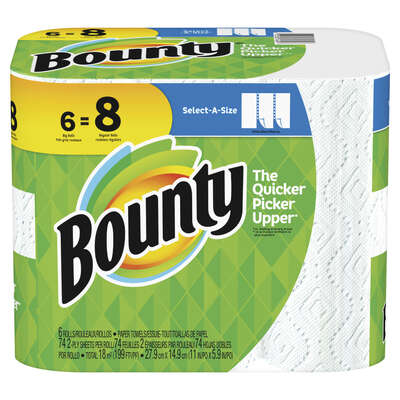 Bounty  Select-A-Size  Paper Towels  74 sheet 2 ply 6 pk