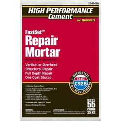 Quikrete  FastSet  Gray  Mortar Repair  55 lb.